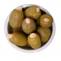 Grüne Oliven gefüllt mit Mandeln 500gr