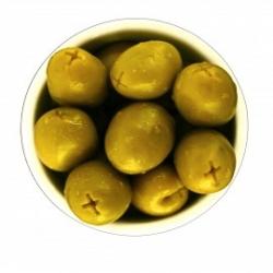 Grune Oliven ohne Kerne 500gr
